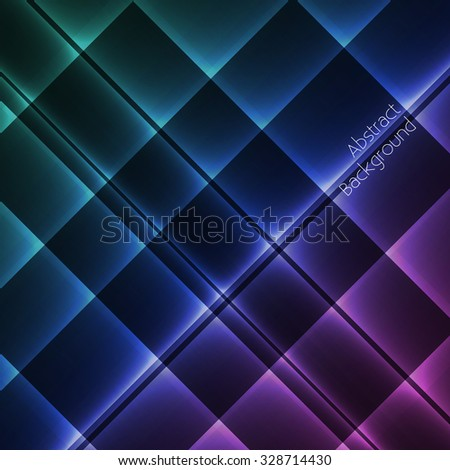 Glowing geometric pattern abstract background - vector eps10 - stock vector