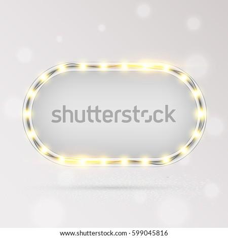 Glowing Lights Retro Frame Advertising Design Stock Vector 599045816 ...
