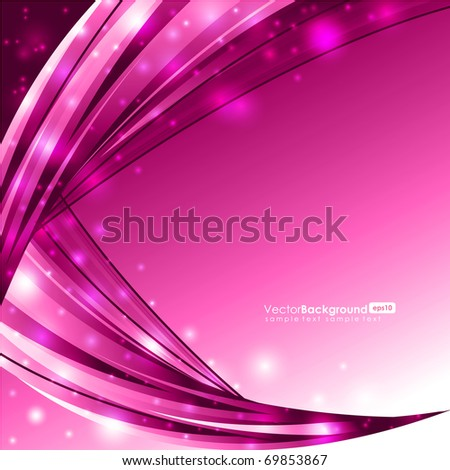 Glowing Pink Lines - Vector Background