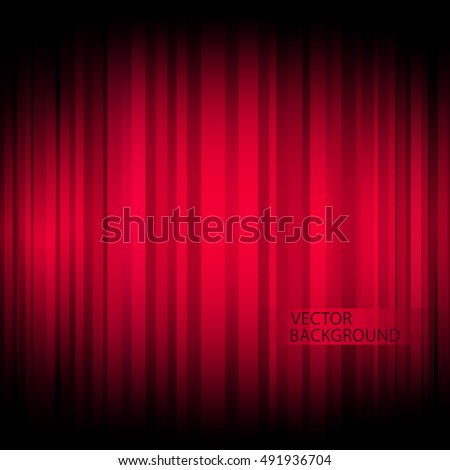 Glowing Red Lines Background - Vector Illustration