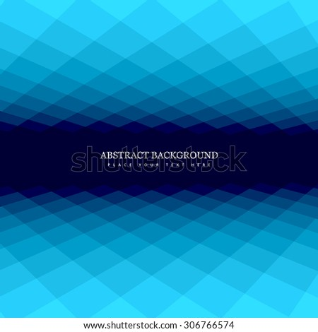 Glowing vector blue colorful mosaic background - stock vector
