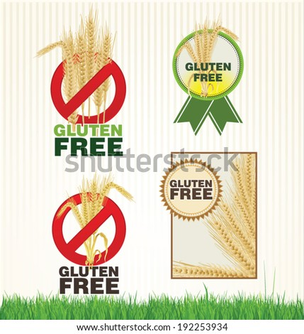 Gluten free banner collection - stock vector