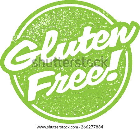 Gluten Free Food Stamp Design - stock vector
