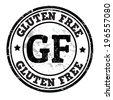 Gluten free grunge rubber stamp on white, vector illustration - stock vector