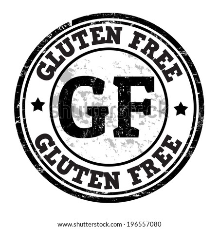 Gluten free grunge rubber stamp on white, vector illustration - stock vector