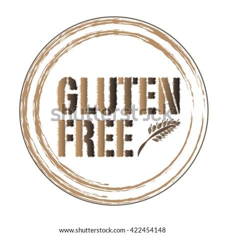 gluten free mark - stock vector