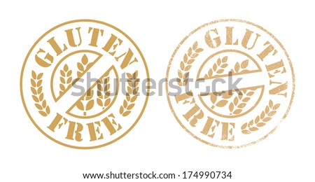 Gluten free rubber stamp ink - stock vector