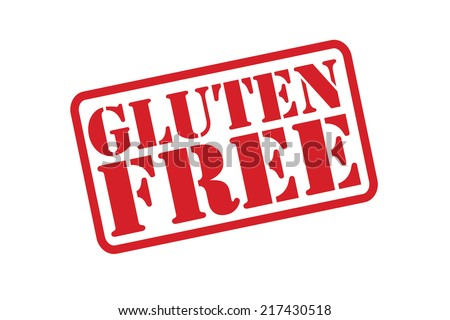 GLUTEN FREE Rubber Stamp vector over a white background. - stock vector