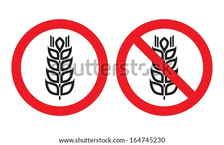 Gluten Free sign - stock vector