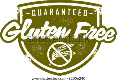 Gluten Free Stamp - stock vector
