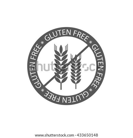 Gluten free vector label sign