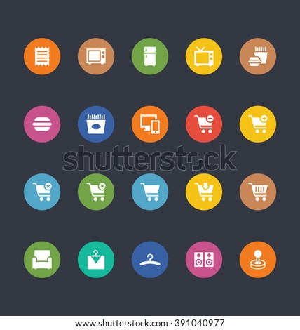 Glyphs Colored Vector Icons 2