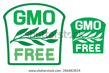 GMO free label (GMO free symbol) - stock vector