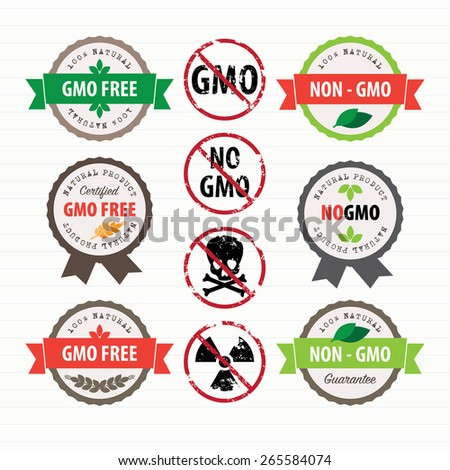 GMO Free stamps and labels set