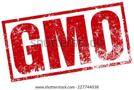 gmo stamp - stock vector
