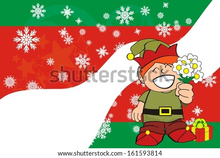 gnome xmas wallpaper in vector format very easy to edit