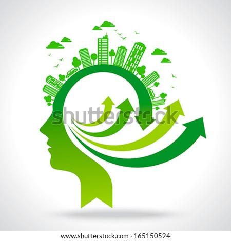 go for green idea - stock vector