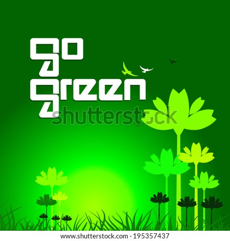 go green concept background
