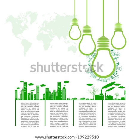 Go green concept. Save world vector Illustration - stock vector