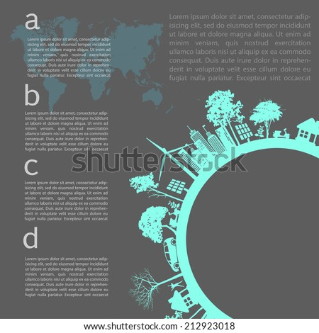 Go green concept. Save world vector Illustration - stock vector