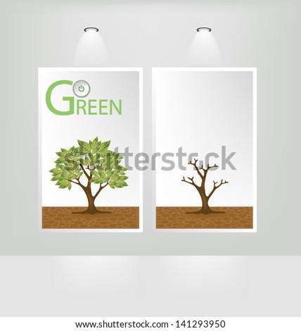 Go Green Concept White Frames Vector Stock Vector 141293950 ...