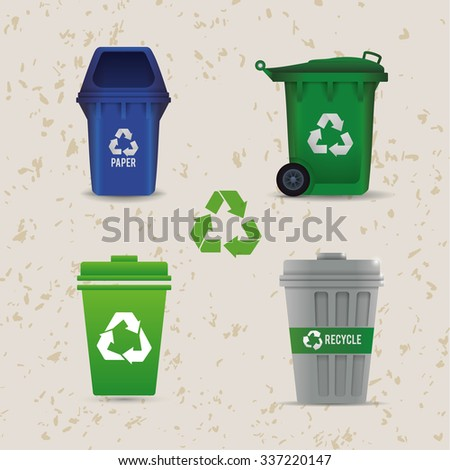 Go green concept with eco icons design, vector illustration 10 eps graphic