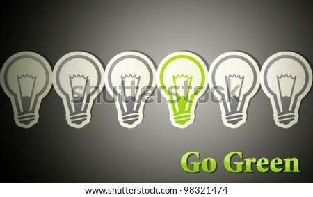 go green. eco concept - stock vector