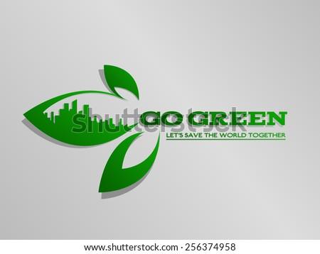 go green ecology concept - stock vector
