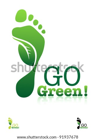 Go Green. Ecology Concept. Editable Vector.