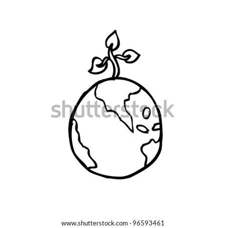 go green environmental earth vector illustration - stock vector