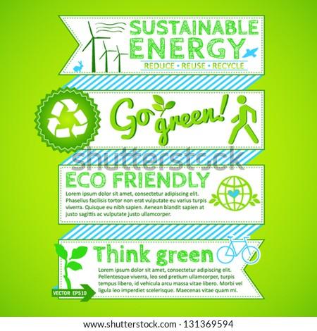 Go green poster - stock vector