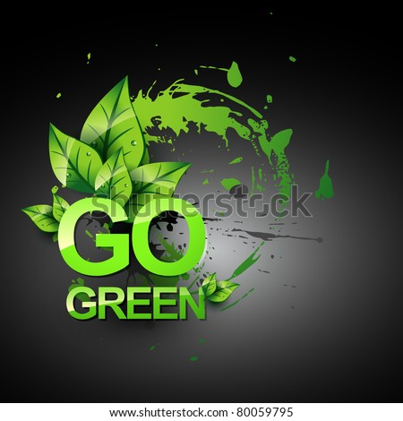 go green vecto symbol style design