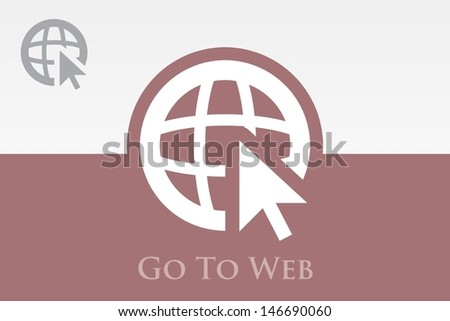 Go To Web (Globe & Cursor) Icon - stock vector