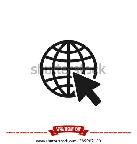 go to web icon, go to web Icon EPS10, go to web icon flat, go to web icon picture, go to web icon vector,  go to web icon graphic, go to web icon object, go to web icon JPEG, go to web icon picture - stock vector
