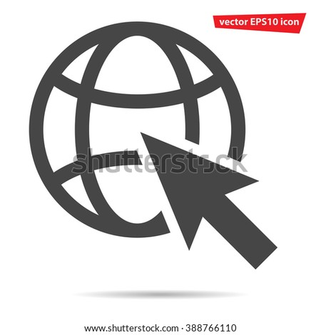 Go to web Icon, Go to web Icon flat, Go to web Icon vector, Go to web Icon illustration, Go to web Icon eps, Go to web Icon art, Go to web Icon pictogram, Go to web Icon jpg, Go to web Icon object - stock vector