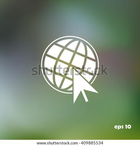 Go To Web Icon, internet, vector - stock vector