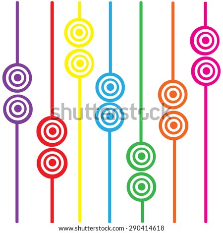 goal colorful background abstract vector illustrator EPS10 - stock vector