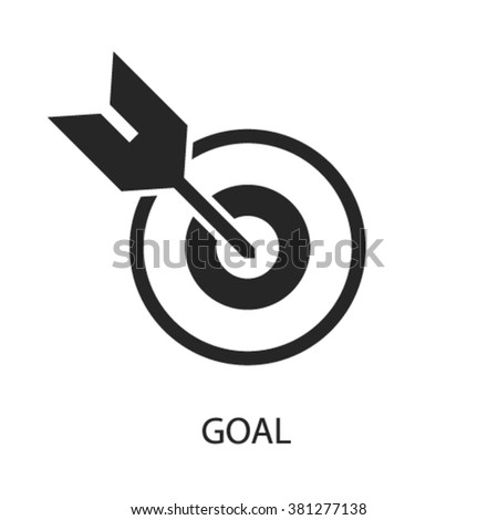 goal icon, goal logo, goal icon vector, goal illustration, goal symbol  - stock vector
