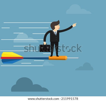 Goal leadership and  management business concept  - stock vector