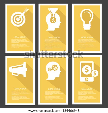 Goal management Banners,Yellow version,vector - stock vector