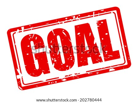 GOAL red stamp text on white - stock vector