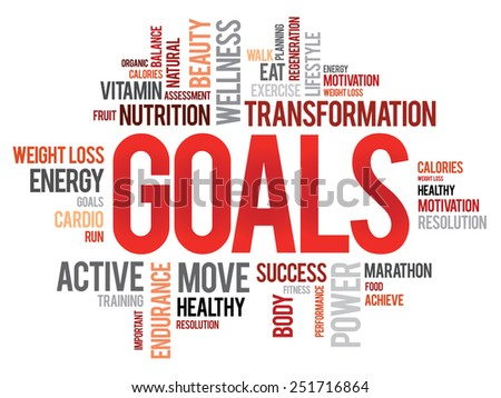 GOALS word cloud, fitness, sport, health concept