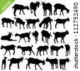 Goat silhouettes vector - stock vector