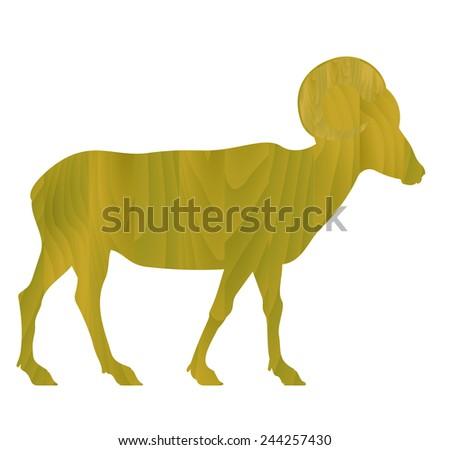 Goat Year - zodiac sign - vector - stock vector