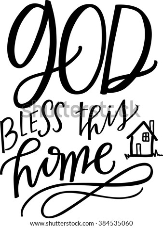 Well-known God Bless This Home Stock Vector HD (Royalty Free) 384535060  FL54