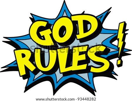 god rules sign