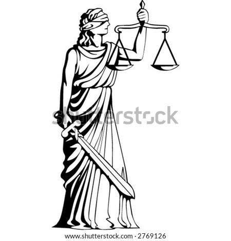 goddess of judgement - stock vector