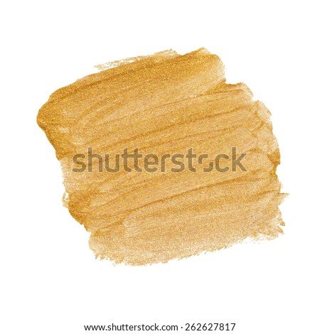 Gold acrylic paint vector banner