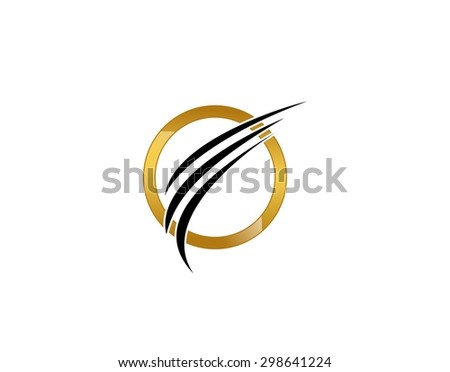 Gold and black corporate logo