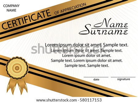 create certificate of appreciation